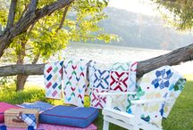 Quilted Living Blog Tour / Travel around from blogger to blogger and see what design from the Quilted Living book she chose and made it her own!