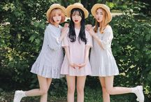 Streetshot (Summer_threesome) / for group photos and outfit ideas, threesome or more~