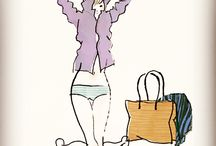 Yuko Yoshioka Line drawings