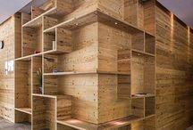 paredes/estantes
