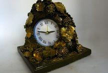 Часы настольно-каминные. / Часы в стиле барокко(полимерная пластика).