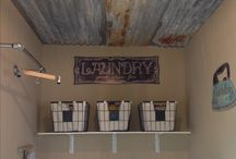 Rustic Laundry Room / Laundry decor