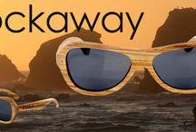 Rockaway Butterfly Style Wood Sunglasses / MakaWear Rockaway Butterfly Style Wood Sunglasses