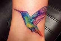 Kolibris tetoválás