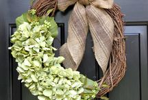 Wreaths / Wreaths are a great way to welcome guests but can be used throughout the house for their beauty and wonderful smell.