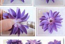 Подарочная упаковка, цветы из бумаги