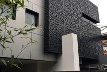 aluminium screen facade