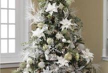 arboles navidad blancos