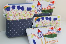 Dotty Owl - Zippered Pouches / Beautiful Zippered Pouches available to order at Dotty Owl: http://dottyowl.com/zippered-pouches/ A lovely selection of Zippered Pouches - made to order - personalised - featuring your own fabric design. Fantastic #unique #gifts