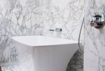 Lowndes Square / A stunning bathroom we completed a few years ago, for a close client of ours. We used Arabescato Cerviaole bookmatched in this case.