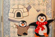 Kaarten met pinguïns
