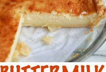 Milk/buttermilk tart/dishes
