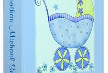 Baby Boy - Buggy Theme / Baby buggy carriage art on blue for the baby boy and new mom.