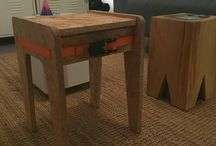 ratchet stool by joppe peelen / OSB stool fixed by a ratchet no tools required. can be taken apart again for transport.