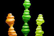 Sculptural Glass Pieces