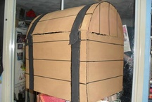 cardboard treasure chest