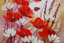 paintings flowers
