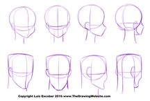 HOW to draw a HEAD? / visual tutorials how to draw head by hand