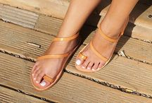 "Leather Handmade Sandals ""Ios"" col. Natural"