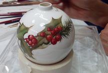 palline natale ceramica