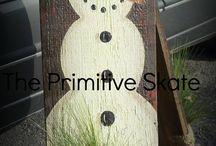 Christmas wood art