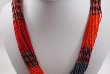 Sautoirs / Sautoirs et colliers multirang en perles fait main en Afrique du Sud www.jowial.com