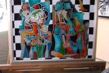 vitray sanatı / cam dekorasyon fikirleri