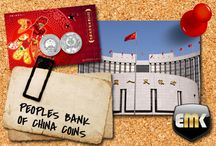 The People's Bank of China / The People's Bank of China coins distributed by EMK / Münzen der The People's Bank of China im Angebot bei EMK.