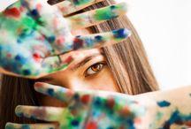 Фотосессия дома с красками