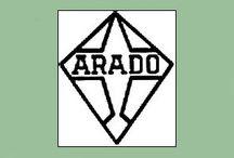 Germania -Luftwaffe -ARADO. / Arado Flugzeugwerke GmbH  gevestigd in Warnemünde.  Vanaf 1924 werden er vliegtuigen geproduceerd. In 1925 werd de naam Arado Handelsgesellschaft. Hoofd-vliegtuigontwerper van Arado was Walter Rethel, ooit medewerker van Fokker. Na de machtsovername door de nazi's werd Arado een van de eerste leveranciers van vliegtuigen aan de nieuwe Luftwaffe. De naam werd veranderd in Arado Flugzeugwerke GmbH.