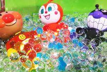 アンパンマンおもちゃアニメ❤夏休みプールにいこう!それともお風呂? Anpanman toys