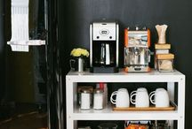 DIY Coffee Stations / Make your own #coffeestation with these very cool #DIY #coffee station ideas. #Pinterest you are awesome.