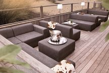 Beach club Belgium / For a beach club in Belgium we have redesigned the outdoor lounge area. We have used our model Block 90.
