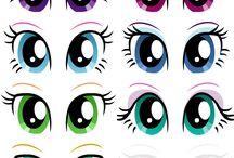 malování oči