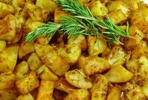Main dishes for dinner: / Roasted potatoes: