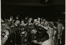 Vintage Slot Players / The public and celebrities playing slot machines, mainly in Las Vegas & Reno, Nevada.