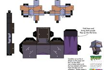 TMNT crafts paper cube figures! / printable D.I.Y. diagrams for tmnt cube figures