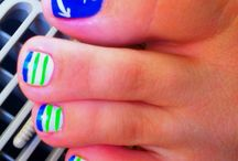 Toe and nail designs that have already tried.