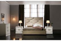 Modern Contemporary Eco-Leather Beige Bedroom Collection
