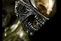 H.R. Giger / H. R. Giger, aliens, alien egg, biomechanical design etc.