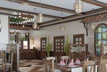 Дизайн интерьера ресторана в стиле этно / Пожелания заказчика: с помощью дизайн интерьера ресторана в стиле этно совершить быстрый и качественный рестайлинг помещения в рамках существующей концепции.