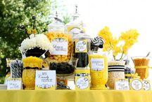 Yellow Candy Buffet Ideas