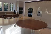 Bespoke Made Designer £65,000 Kitchen in Grey Gloss & Walnut