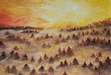 Ingrida Gallery Paintings / Original Acrylic and Watercolor Paintings on Canvas and on Paper.