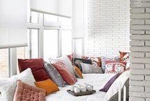 Glazed balcony / Cozy corner