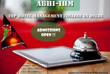 Abhi Institute of Hotel Management / Abhi Institute of management is the top hotel management college in Delhi. AIHM is committed to provide the best facilities and also help the students in all the ways.