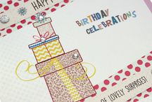 Pot Pourri / Pot Pourri is a large 'everyday occasions and relations' range with lovely illustrations and sparkling coloured crystals and embellishments. Printed on a thick, gold shimmered board with a dotty embossing, these fabulous cards measure 15.5cm square and come with pastel dusky pink, blue, or ivory envelopes.