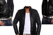 Heren Leder-look Biker jackets