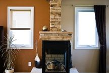 pellet stove ideas / by Marie Holly