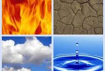 Four Elements / Images and information about Earth, Air, Water and Fire